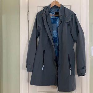 Rain coat with hood - size m women